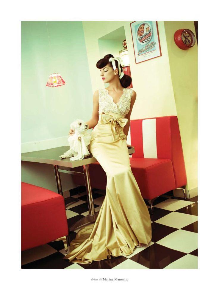 Woman&Bride  Fall-Winter 2011 Dress Marina Mansanta Alta Moda