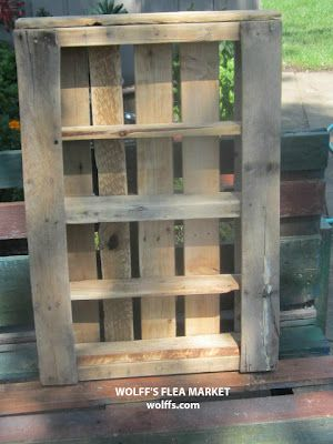 Wolff's Flea Market Blog: How to Build a Recycled Pallet Shelf