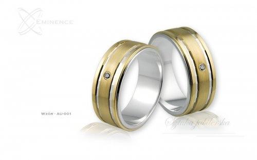 Obrączki ślubne - wzór Au-001