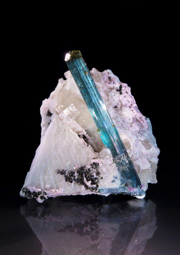 Tourmaline, Quartz, Lepidolite, Feldspar Group Pederneira claim, São José da Safira, Doce valley, Minas Gerais, Brazil