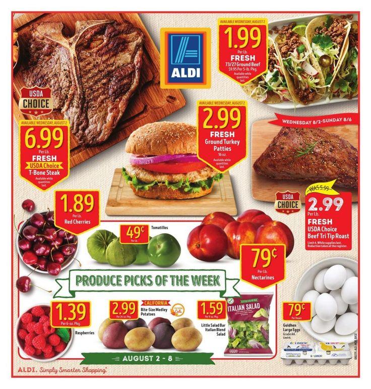 #Aldi Weekly Ad August 2 - 8 #usa #grocery savings ALDI USA circular
