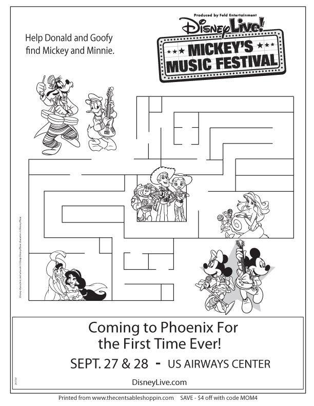 Disney Live! Mickey's Music Festival Maze Activity