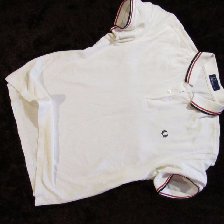 mens  polo t-shirt  Fred Perry  white  Size M #FredPerry #BasicTee