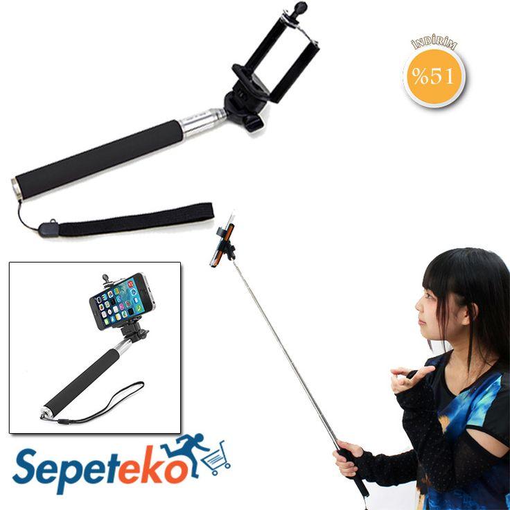 '' Selfie Çubuğu '' - 19,90 TL. Artık Sizde Selfie Çubuğunu Kullanarak Daha Uzak Mesafelerden Kendinizi Fotoğraf Karesine Dahil edebilirsiniz! Ürünü İncele >> http://www.sepeteko.com/selfie-cubugu