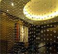 Cuentas redondas de vidrio cristal cortina 5 cuerdas 1 metro transparente cortina de puerta ventana de partición porche envío gratis
