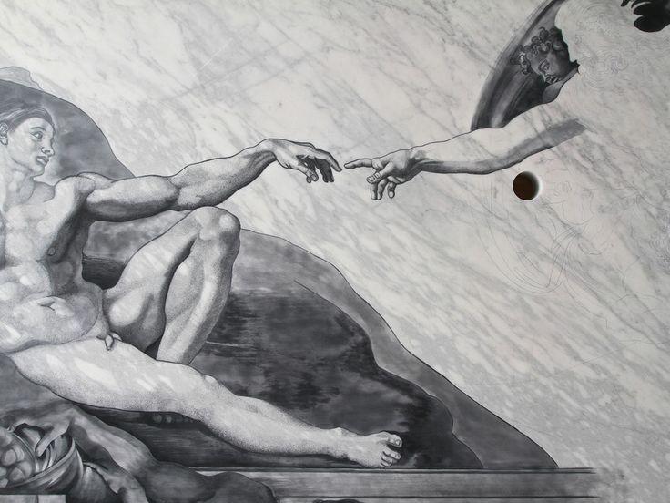 Fabio Viale - GAP, 2015, marmo bianco, cm 329 X 200 X 75,  marmo bianco e pigmenti, courtesy Galleria Poggiali e Forconi (particolare dell'opera) - Contemporary sacred art | CoSA
