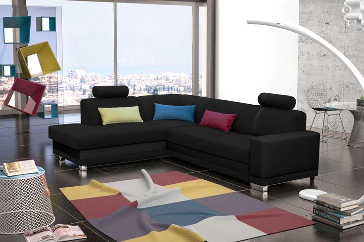Dieses #Eckofa ist ideal für das #Wohnzimmer, verbindet höchste Qualitätsansprüche mit einzigartigem #Design. Verschiedene Farbkombination ermöglich die perfekte Anpassung für jeden Raum  #couch #eckcouch #couchgarnitur #polstergarnitur #sofas #ledersofas #sofa
