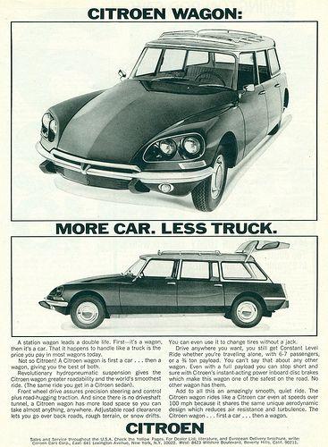 Citroën ID Break version États-Unis 1969 (Les DS version États-Unis ont des clignotants ronds sous le pare-choc avant et des répétiteurs de clignotant sur le côté des ailes avants.)