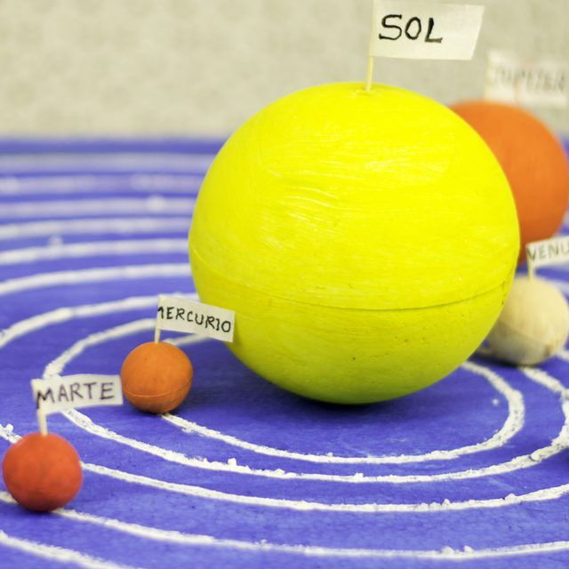 how to build a solar system model
