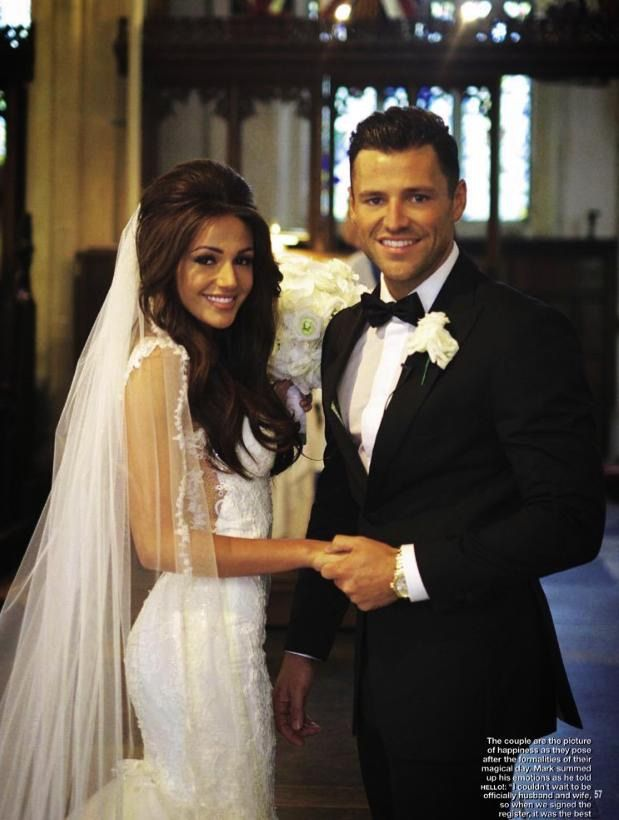 Michelle Keegan / wedding hair