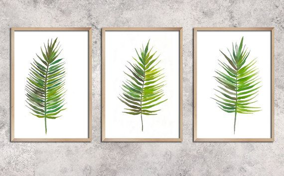 palm leaves    Watercolor Art Print  Wall Decor Home by ArtCCarol