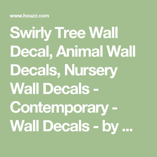 Swirly Tree Wall Decal, Animal Wall Decals, Nursery Wall Decals - Contemporary - Wall Decals - by Wall Decal Source