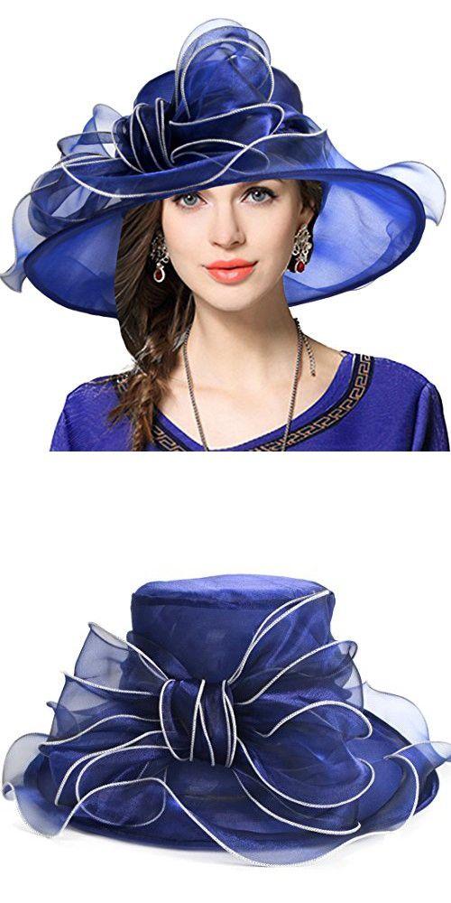 2827404283957 VECRY Women Kentucky Derby Hat Wide Brim Cocktail Tea Party Bridal Dress  Church Hat