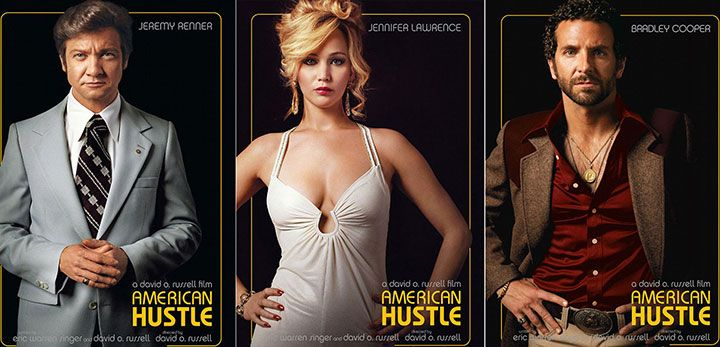 Marvel At J-Law and Bradley Cooper's Perm In These New American Hustle Movie Posters