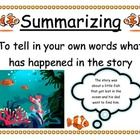 These reading comprehension posters are a great way to introduce your new reading strategy each week.  These ocean themed posters give a definition...