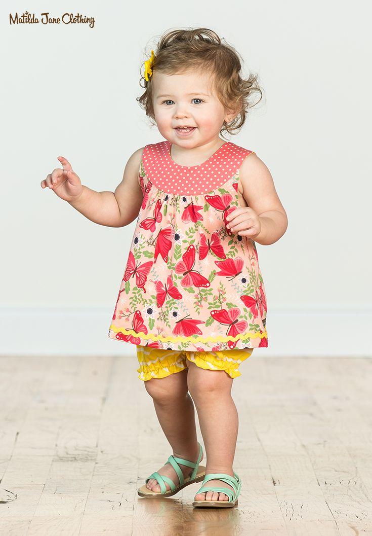 7a593856963  MatildaJane  BabyFashion  BabyClothes  Butterflies  BabyTunic  Summer   SummerFashion  PinkShirt