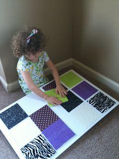 Sensory Sun: DIY Texture Board
