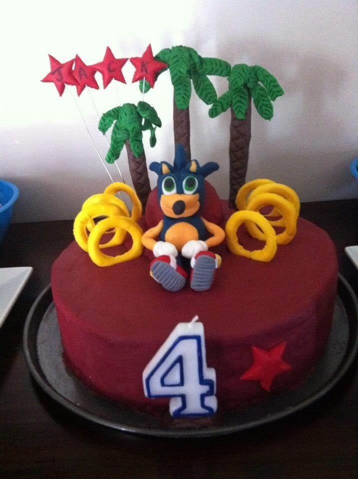 Sonic the Hedgehog cake for my sons 4th Birthday
