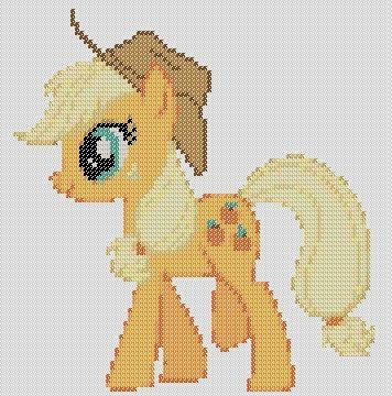 My Little Pony Inspired Pattern  AppleJack by StitchedPixels, $1.25