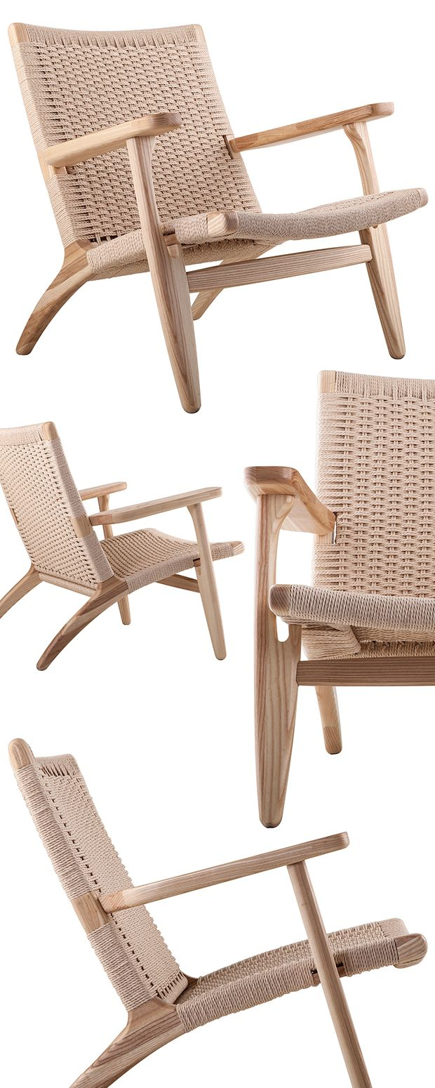 Combine your taste for modern design with your natural sensibilities with this stunning lounge chair.  Featuring a rustic woven seat and back in a classic mid-century shape, the chair masters the art o...  Find the Modern Woven Lounge Chair, as seen in the Handwoven Bohemian Home Collection at http://dotandbo.com/collections/handwoven-bohemian-home?utm_source=pinterest&utm_medium=organic&db_sku=122540