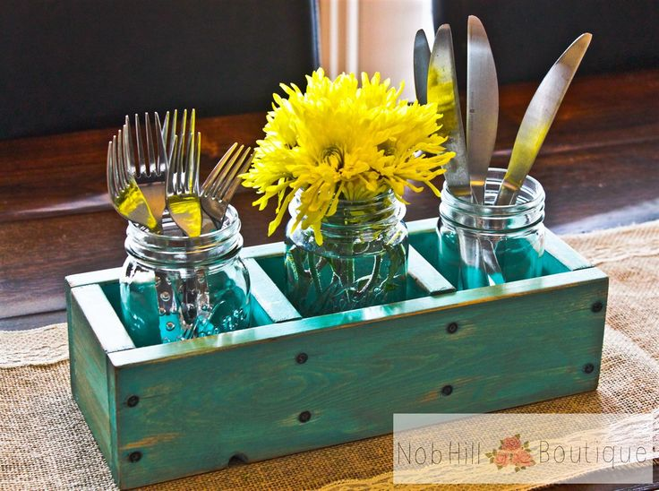Distressed Real Wood Table Caddy!