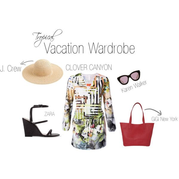 """""""Tropical Vacation Wardrobe"""" by shopeluxe on Polyvore"""
