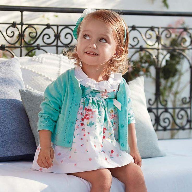 Bonito #vestido de niña bebé marca #Mayoral