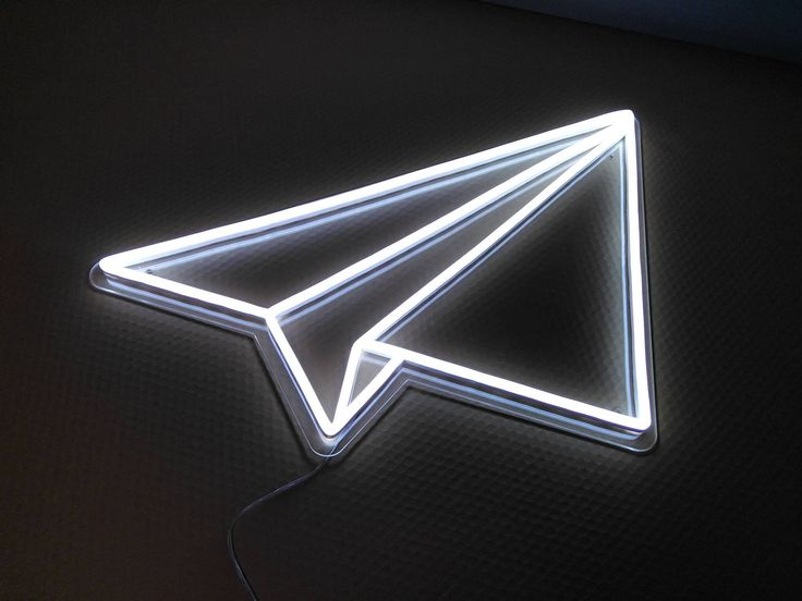 Paper Plane Neon Sign by ShoreditchNeons on Etsy https://www.etsy.com/uk/listing/583035007/paper-plane-neon-sign