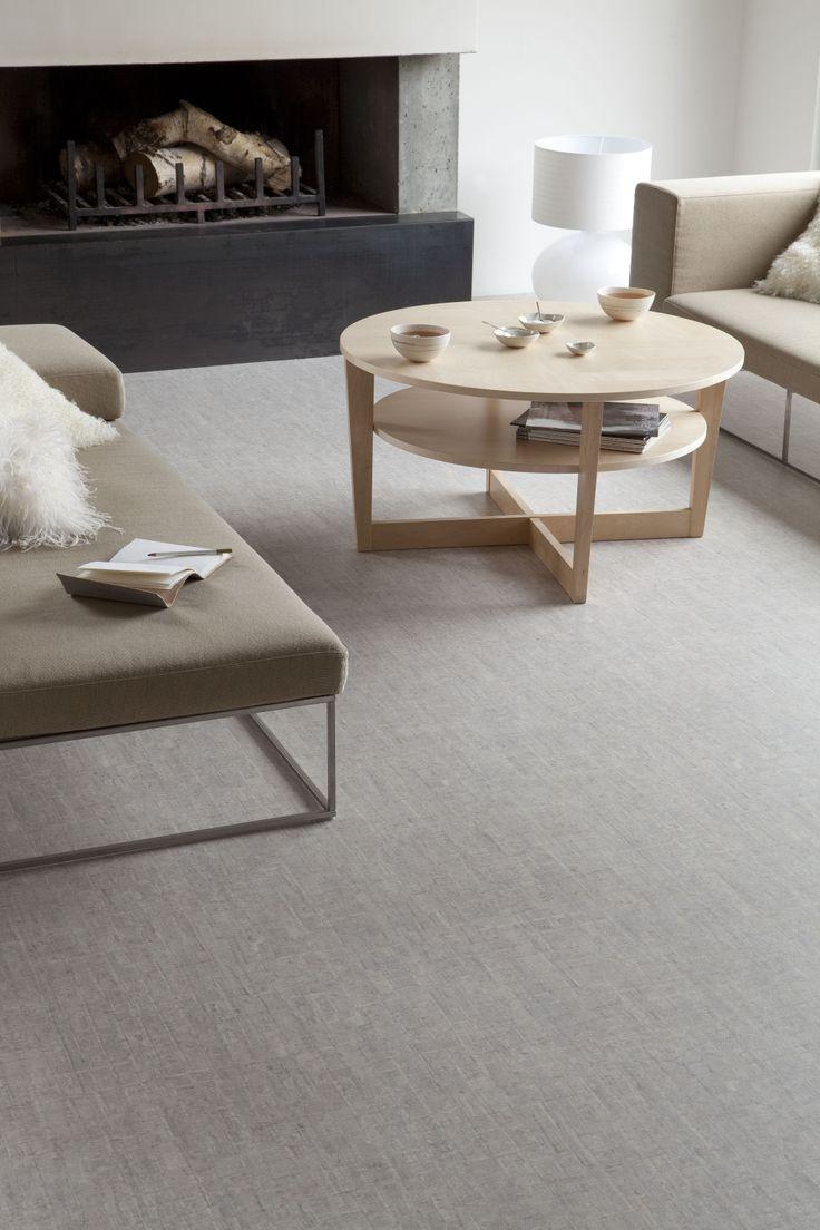 Texline hqr taiga light grey gerflor flooring design for Parquet pvc clipsable gerflor