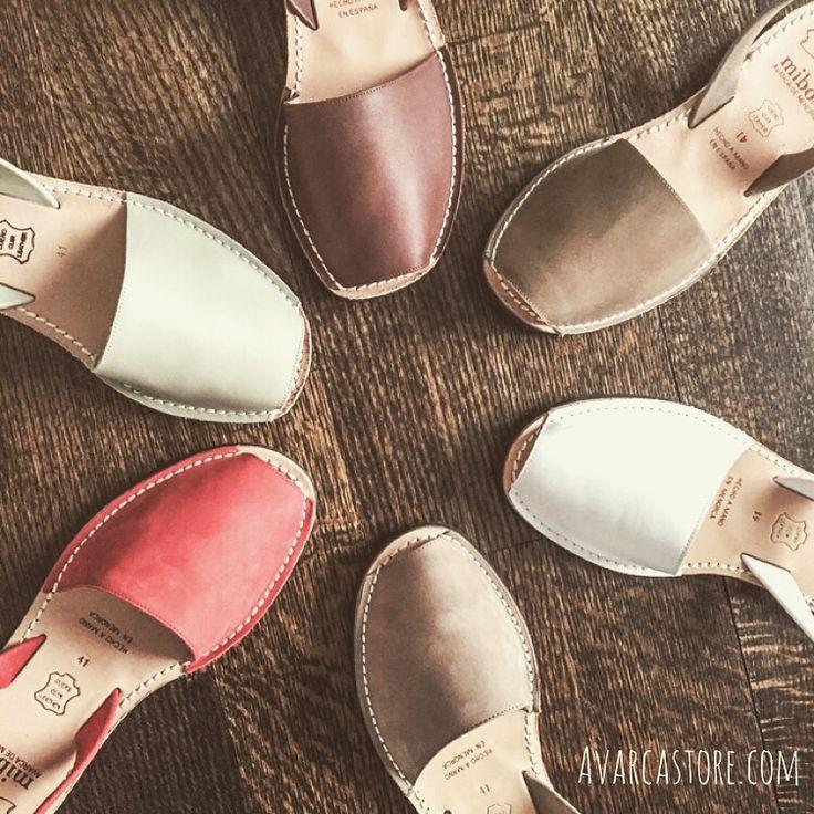 I MUST HAVE!! Bucket list for sure.   Original Menorquinas Avarcas Leather Sandals. Comfy Slingback flat leather sandals #avarcas
