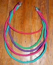 Twisted Cord NecklaceJewelry Make, Jewelry Crafts, Jewelry Necklaces, Free Jewelry, Fun Necklaces, Allfreejewelrymaking Com, Cords Necklaces, Colors Necklaces, Diy Projects