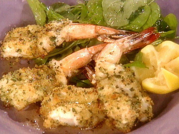 Butterflied Baked Shrimp recipe from Wolfgang Puck's Cooking Class via Food Network