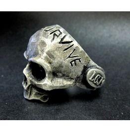 Memento Mori Oxidized Sterling Silver Skull Ring