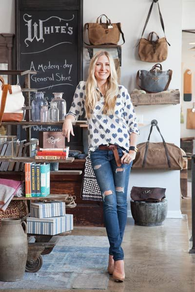 store owner Holly Williams in her store named White's Mercantile