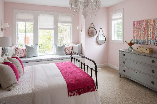 Soft Pink Paint Color: Pink Bliss 2093-70 by Benjamin Moore.