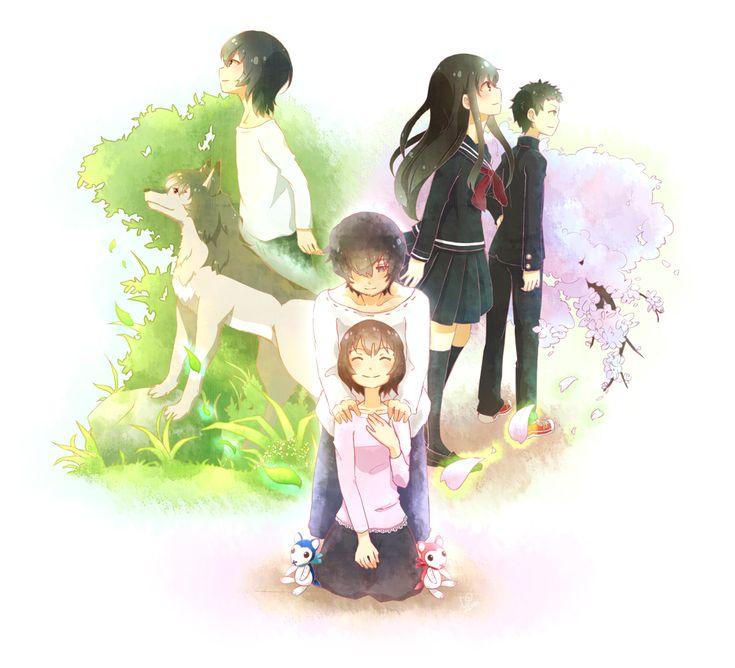Ame, Ookami, Hana, Yuki et Sohêi
