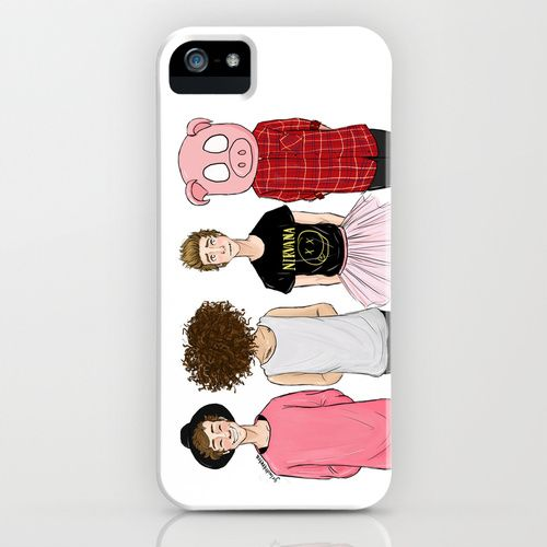 5sos phone case | 5SOS iPhone & iPod Case-this is SO cute!!!! If u get why they're dressed like this then... that wonderful!!!:)