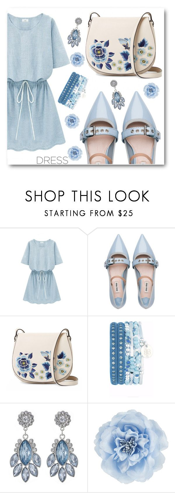 """""""Dress"""" by angelstar92 on Polyvore featuring Miu Miu, French Connection, Monsoon, dress and dreamydresses"""