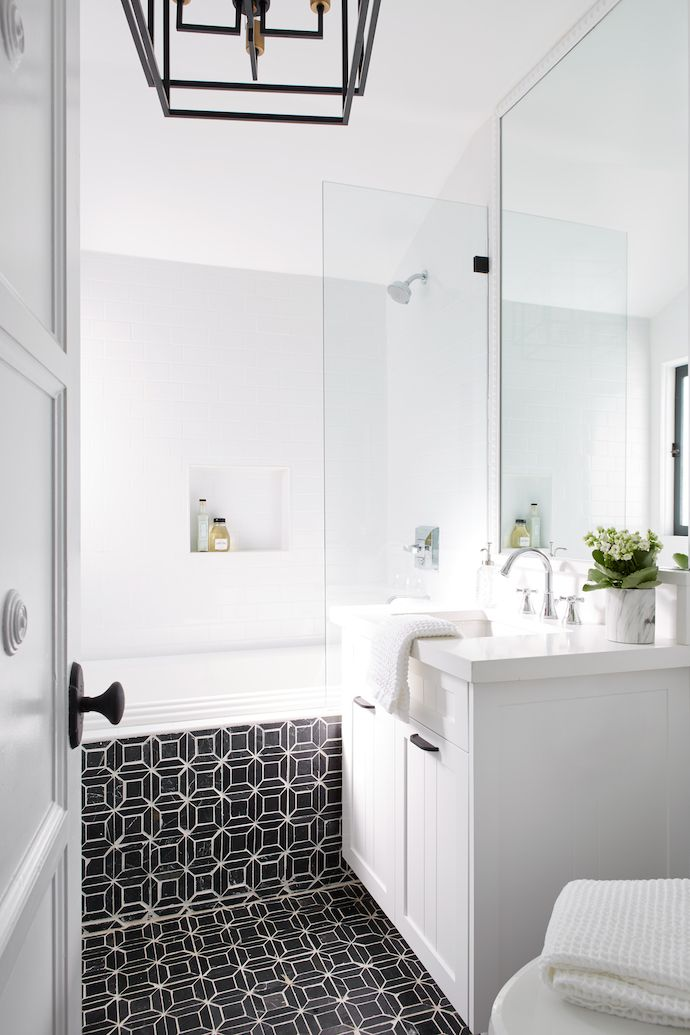 Modern Colonial Bathrooms: A Newly Transformed 1930s Spanish Colonial
