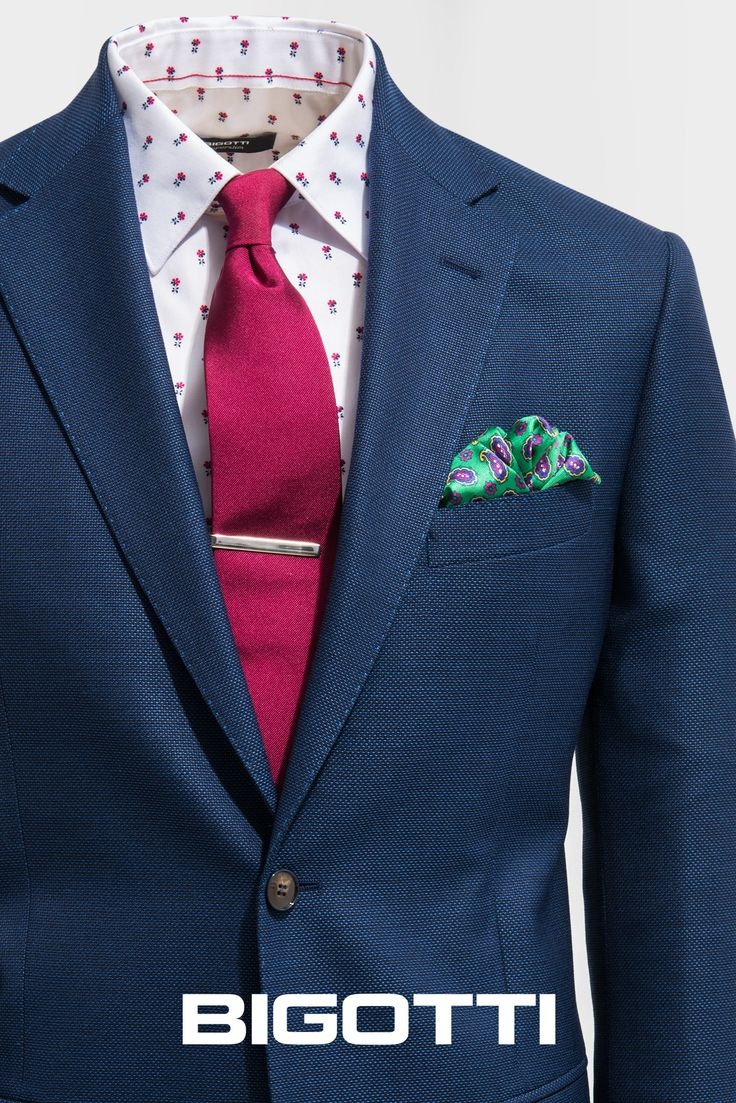 #Mixandmatch – #solid #tie on #patterned #shirt . #Browse and #shop in #Bigotti #men #clothing #stores and on www.bigotti.ro