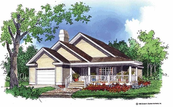 27 best small cottages images on pinterest small houses for Eplans craftsman bungalow 11192
