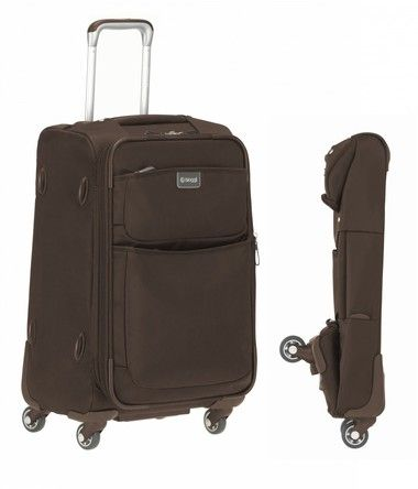 "Contempo 22"" Foldable Spinner Carry-on. Great functional bag. The best part? It folds and takes up practically no space."