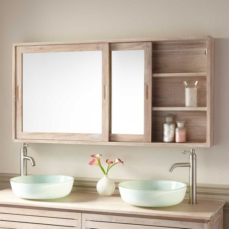 Image result for mirror with storage bathroom