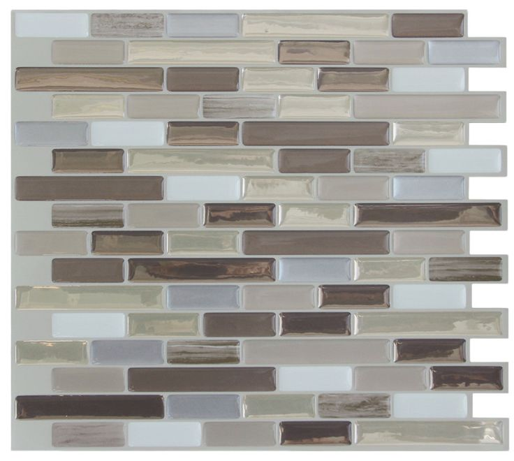 Self adhesive backsplash tiles