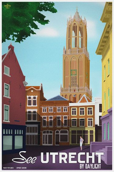 Travelposter of the city of Utrecht, the Netherlands - Day -
