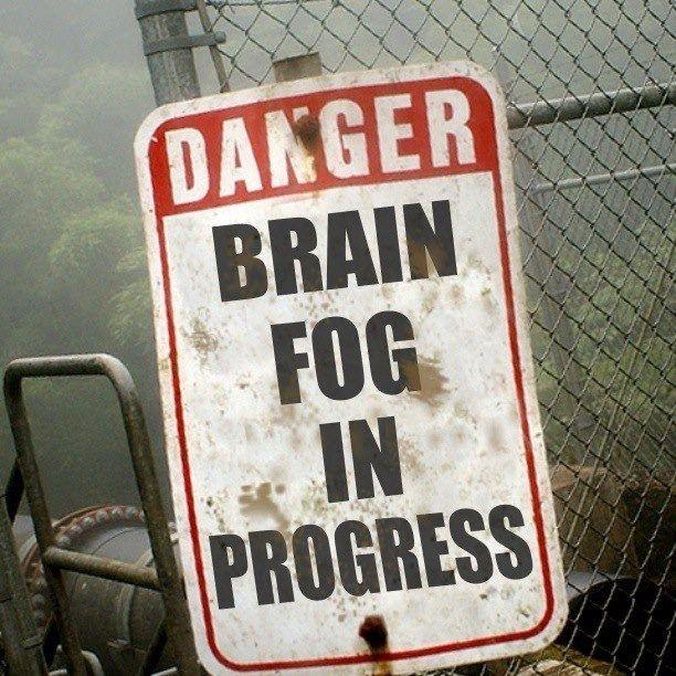 """""""Perigo: névoa cerebral em progesso"""""""