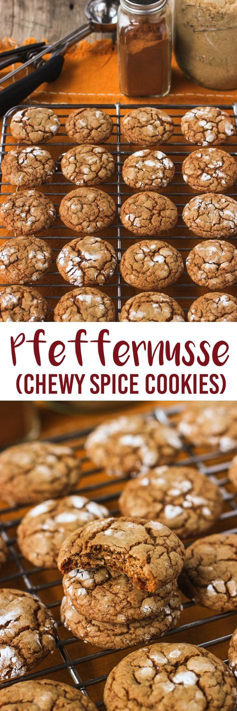 Pfeffernusse are thick and chewy spice cookies that are perfect for your holiday cookie tray!