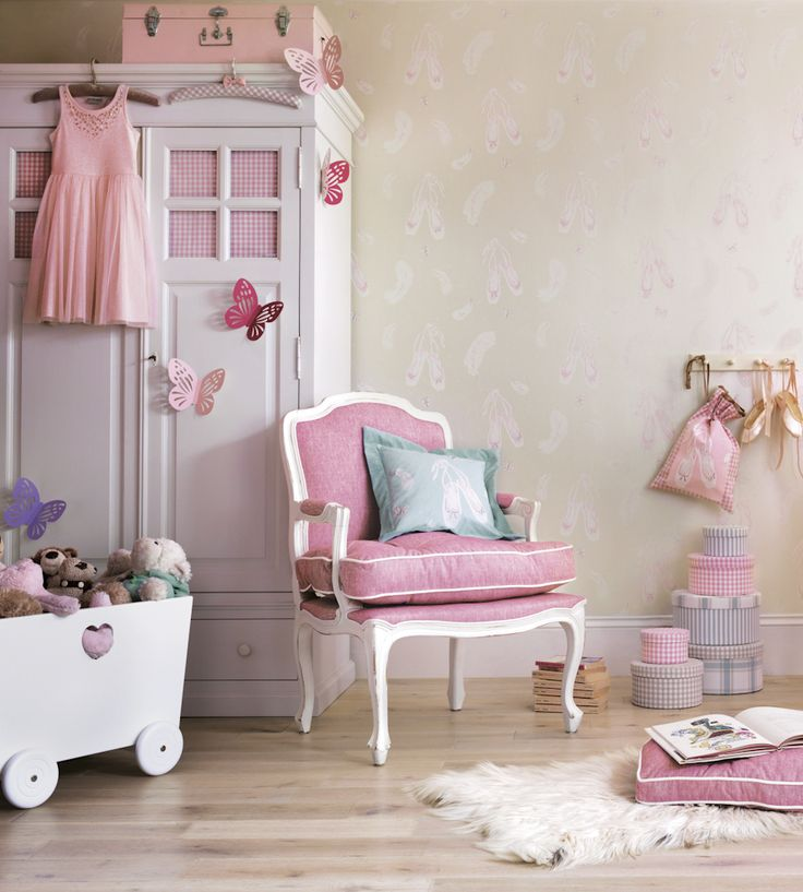 How to Style | Girls Rooms | Ballet Shoes Wallpaper by Sanderson | Jane Clayton
