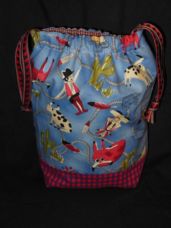 Project Bag for knitting or needlepoint by 123carorose on Etsy, $20.00