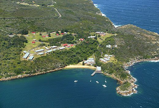 The Quarantine Station wharf at Manly's Spring Cove.